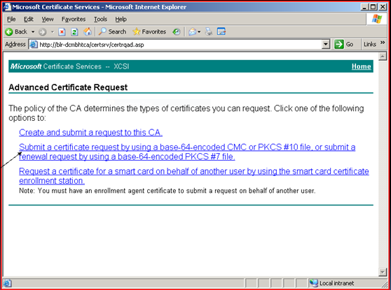 Exchange 2007 creating a certificate through an internal ca with copy paste the content of the file ccertnewtxt in the filed where it reads base 64 encoded certificate request cmc or pkcs 10 or pkcs 7 and the yadclub Gallery